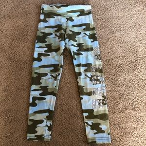 Justice Girl's Camouflage Leggings with Bedazzle